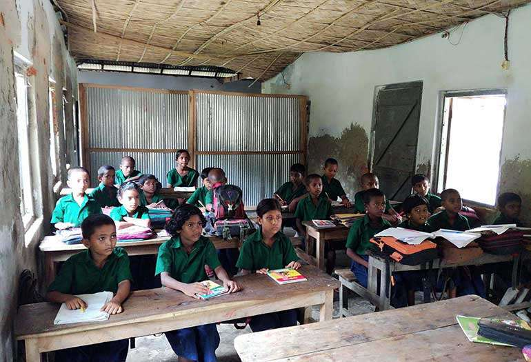 Bangladesh Children Studying in Classroom