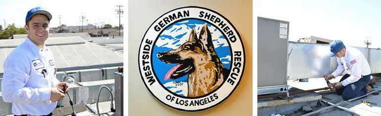 Control Air Donates to Westside German Shepherd Rescue