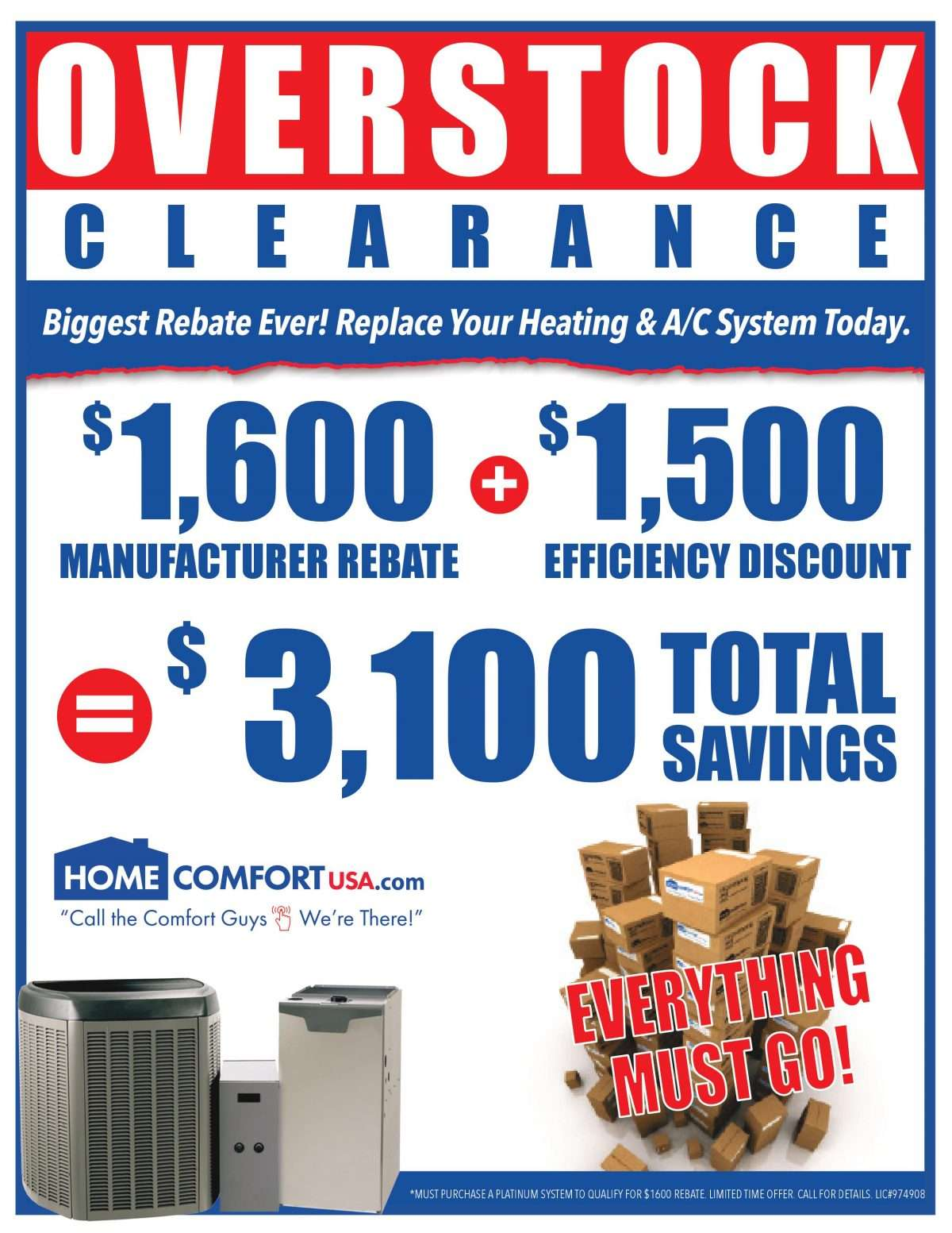 Promotion for overstock clearance