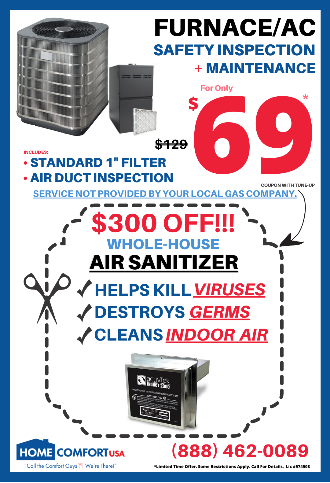 air sanitizer promo
