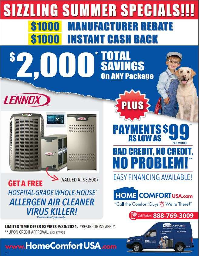 Home AC Service Promotion For Orange County California