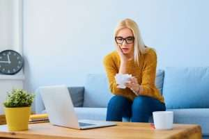 woman worried about her high electricity bill