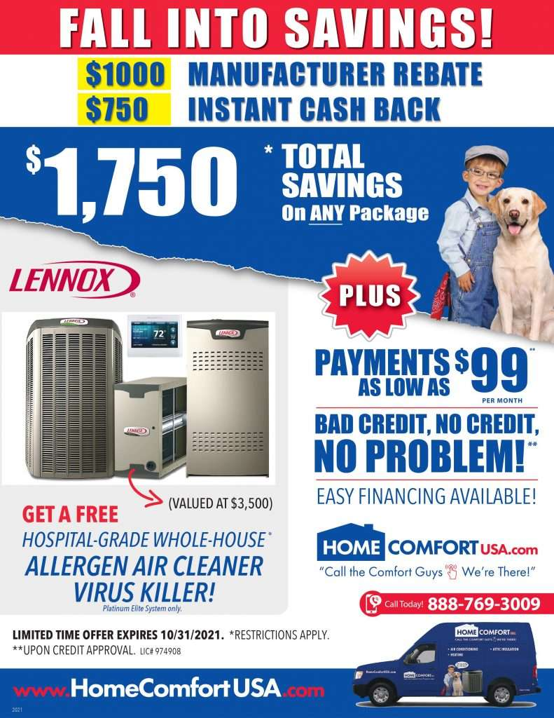 AC Tune Up Advertisement for Home Comfort USA