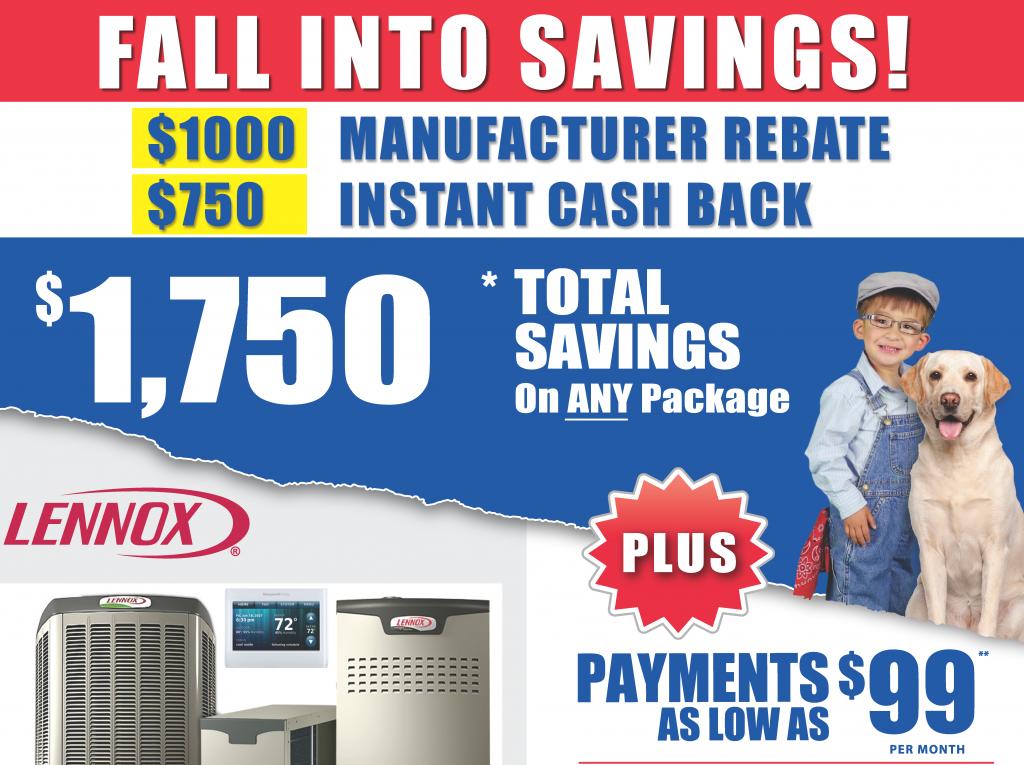 Home Comfort - Fall Into Savings HVAC Promo